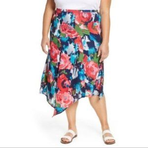 Gibsonlook Ashley Asymmetrical Flowy Midi Skirt